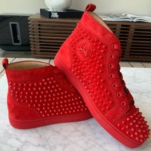 Christian Louboutin- Red Hightop Spikes